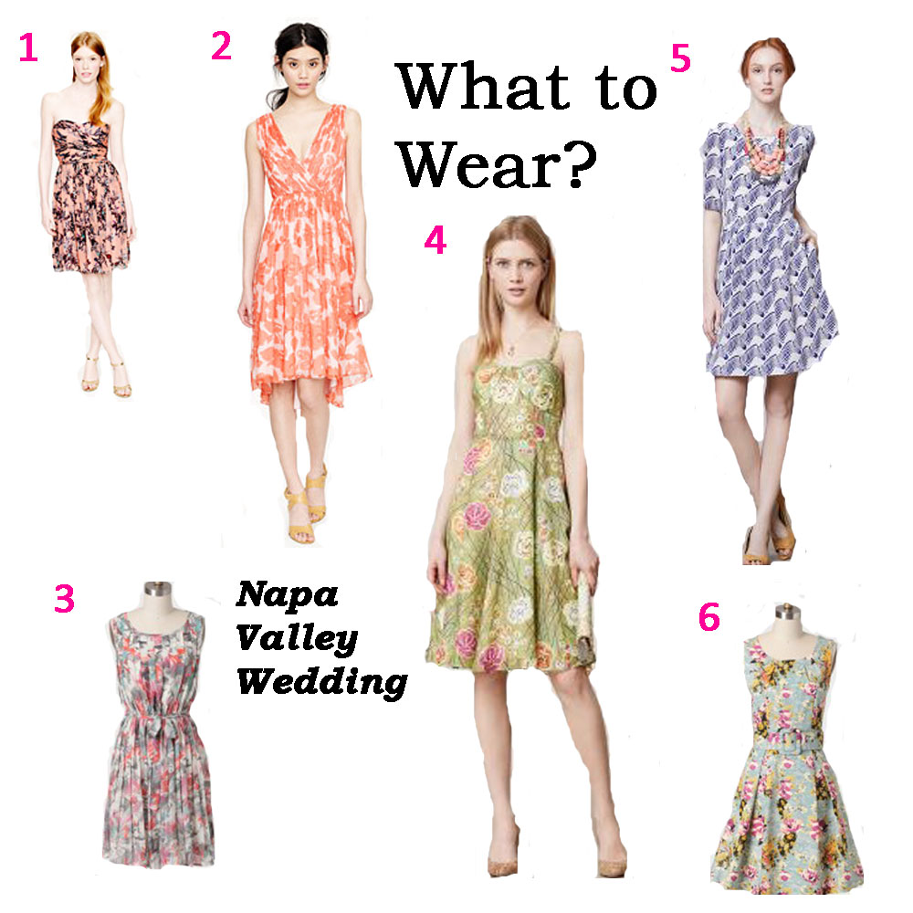 What To Wear? Napa Valley Wedding